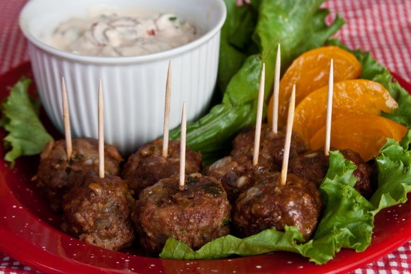 Mexican Beef and Chorizo Meatballs with Creamy Chipotle Sauce