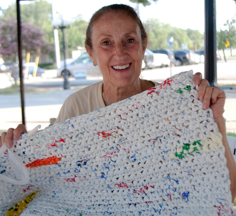 Sleeping Mats For The Homeless Crocheted From Plastic Bags