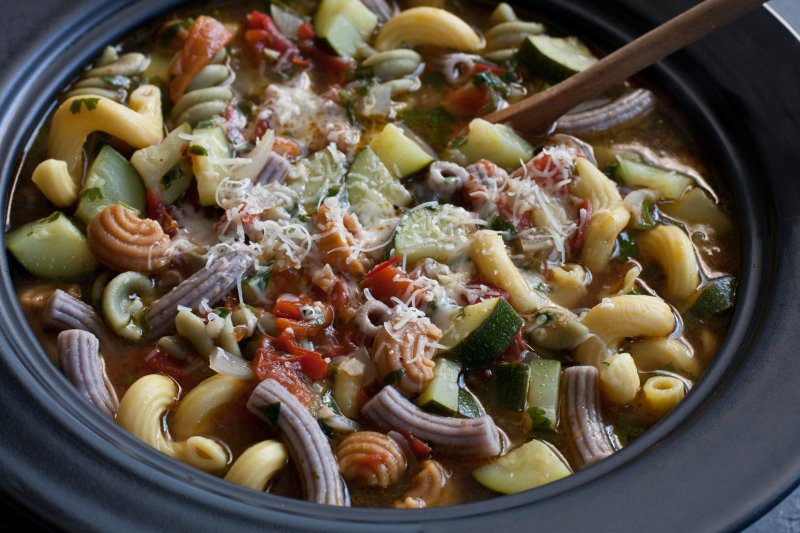 Garden Fresh Vegetable Soup with Southwestern Blend Pasta