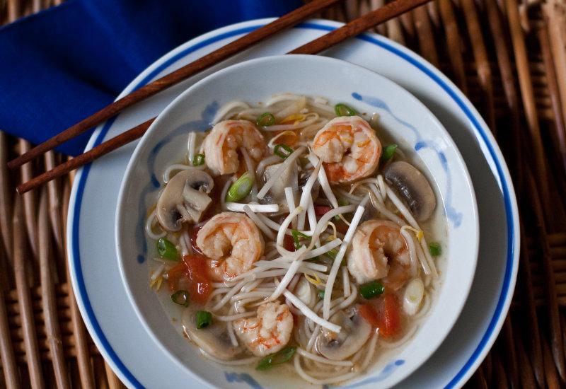 Vietnamese Hot-and-Sour Shrimp Soup