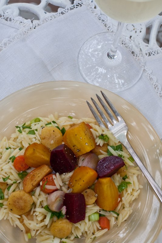 Orzo and Roasted Vegetable Salad