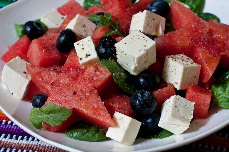 Watermelon, Blueberry and Feta Salad