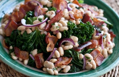 Warm Beans and Greens Salad