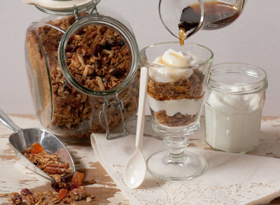 Maple Granola with Fruits and Nuts