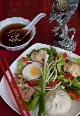 Salad with Sweet Sesame-Soy Vinaigrette