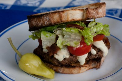 BLT Blue Cheese Caesar Burger