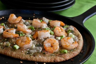 Shrimp and Cilantro Pesto Pizza