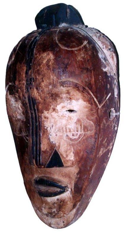 Fang early Ngil dance mask, northern Gabon