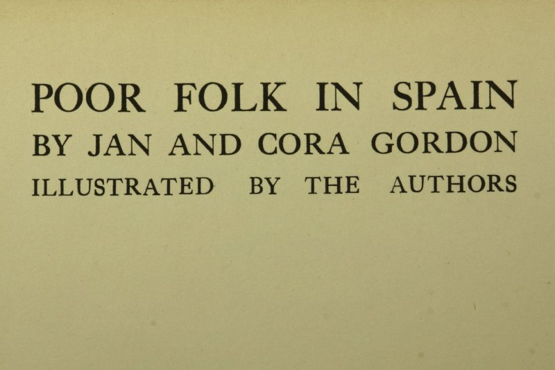 Poor Folk in Spain, the account of a 1920 journey, was first published in 1922.