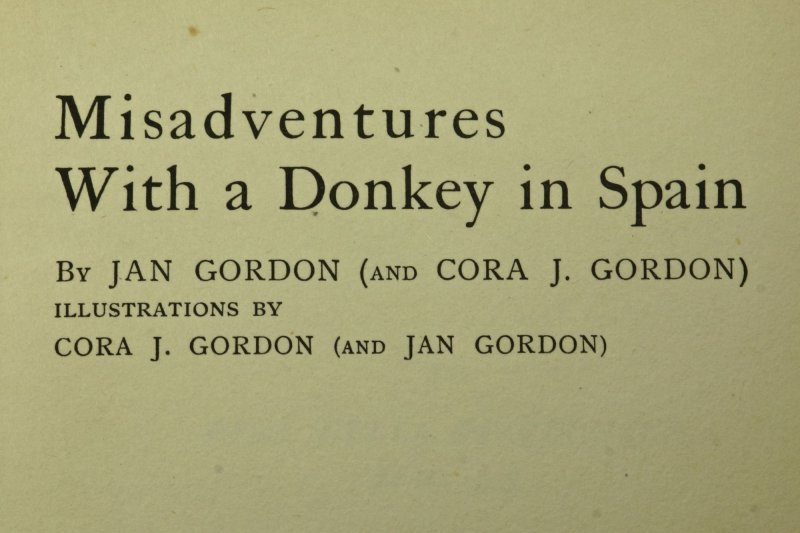 Published in 1924, this describes the second journey of the Gordons to Spain.
