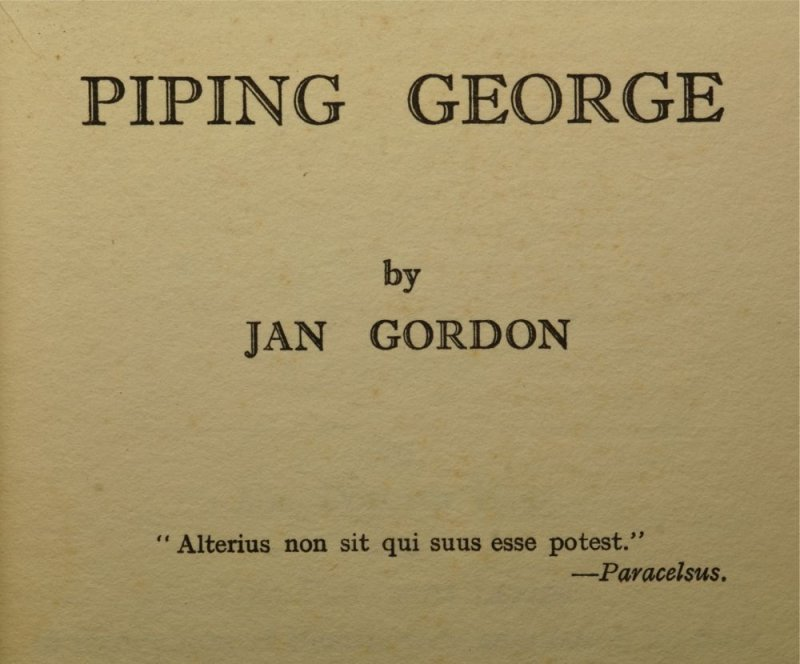 A novel published in 1930. The story is about George the wandering flautist and young Nellie Ems.