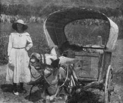 Cora with Colonel Geraldine in southern Spain
