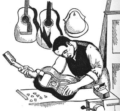 Emilio the guitar maker