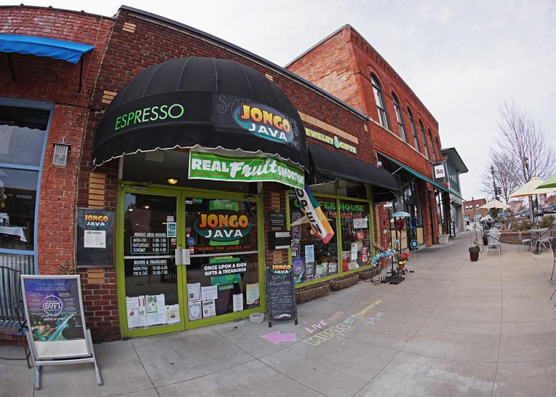 THE JAVA JINGO COFFEE SHOP  -  SONY 16mm f/2.8 LENS WITH MATCHING SONY FISHEYE CONVERTER