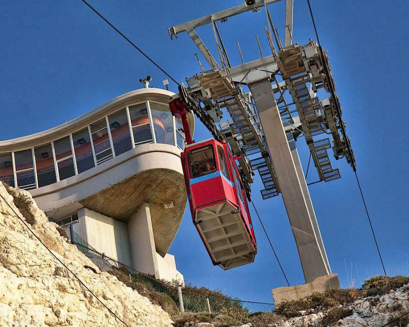 8630- Ride the Tram Down to the Grottoes at Rosh Hanikra