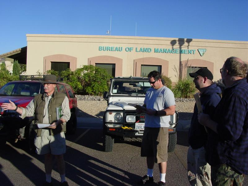 Jump off was here at BLM office in St. George, Utah