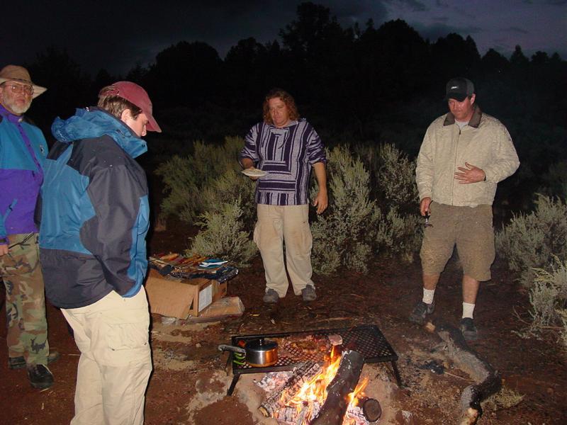 Cold damp rainy night around camp fire !!!!