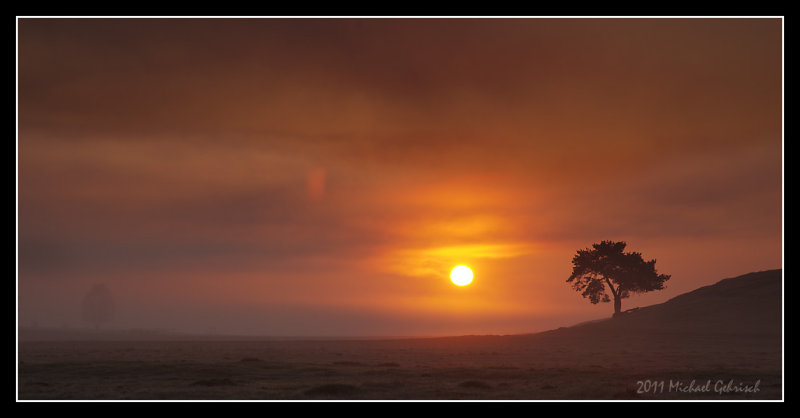 Sunrise on Vombs Meadows