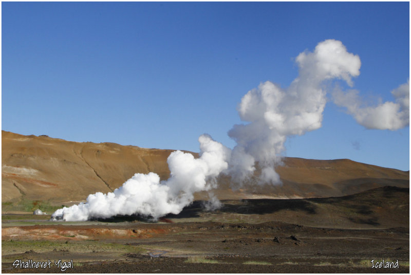 Myvatn-useing the steam