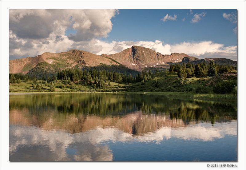 Snowdon Peak Reflected in Little Molas Lake, San Juan National Forest, Colorado, 2011