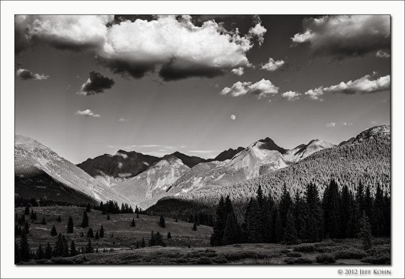 West Needles & Moon, San Juan National Forest, Colorado, 2012
