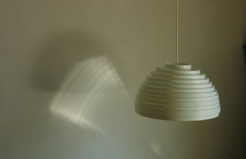The lamp over my breakfast table, with<br>its reflection and shadow