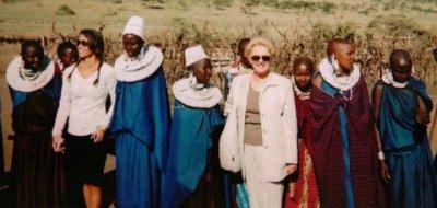 Julie in East Africa tribal women