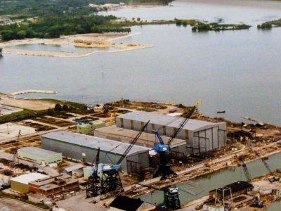 Collingwood Shipyards and Kaufman Furniture Docks (Future Mariners Haven) historic photo