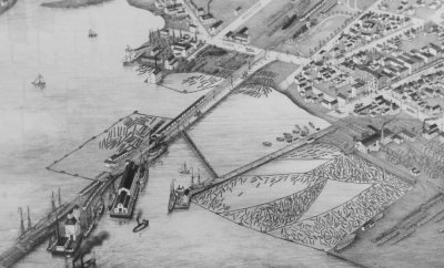 Collingwood Harbour in 1875