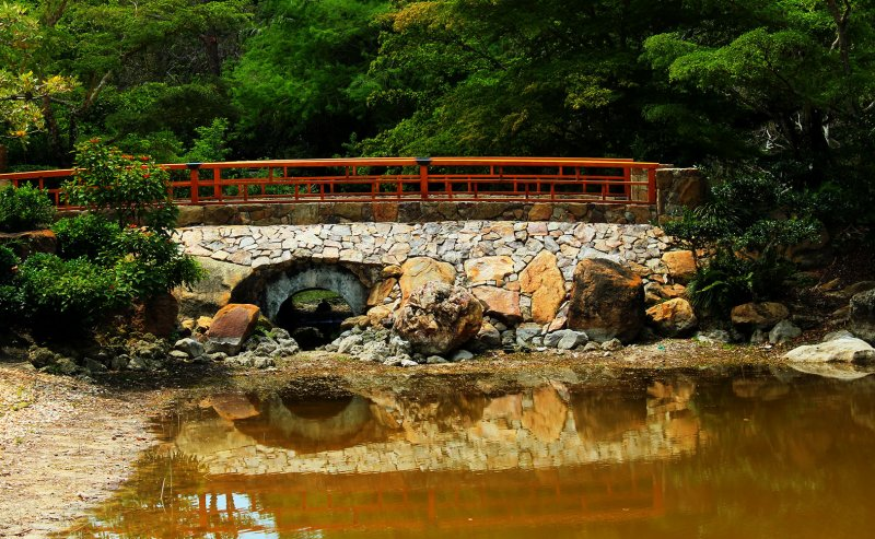 Bridge over trou...um, low waters?