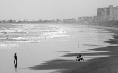 Heavy Surf Along Cocoa Beach