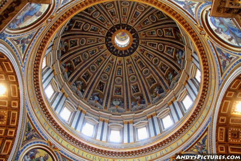 St. Peters Basilica dome looking up