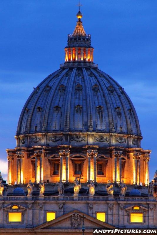 St. Peters Basilica at night