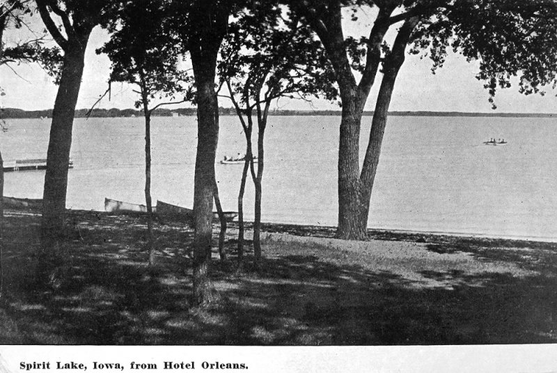 Spirit Lake from the Orleans Hotel 1914