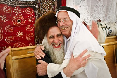Haj Ibrahim with another religious peacebuilder friend of his, Rabbi Fruman