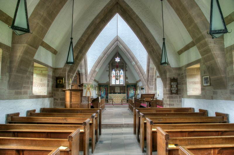 Brockhampton Church interior