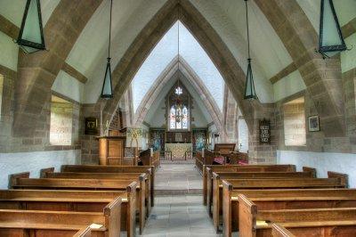 Brockhampton Church interior