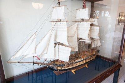 Fregatten Hvide Ørn, 1797, på Marinemuseet i Horten