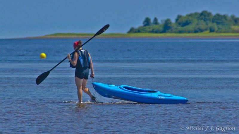Le kayak est très populaire cet été