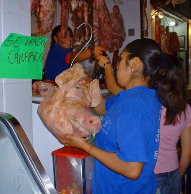 cabeza de cerdo para pozole