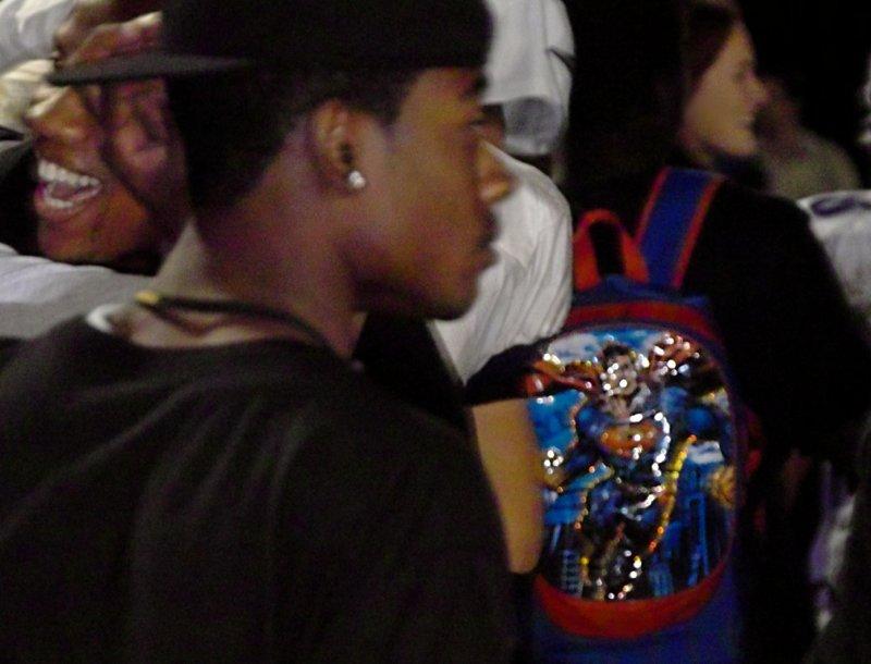 Last Years superman (star running back) and Superman Bookbag