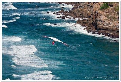 Hang Gliding Over Pacific Ocean