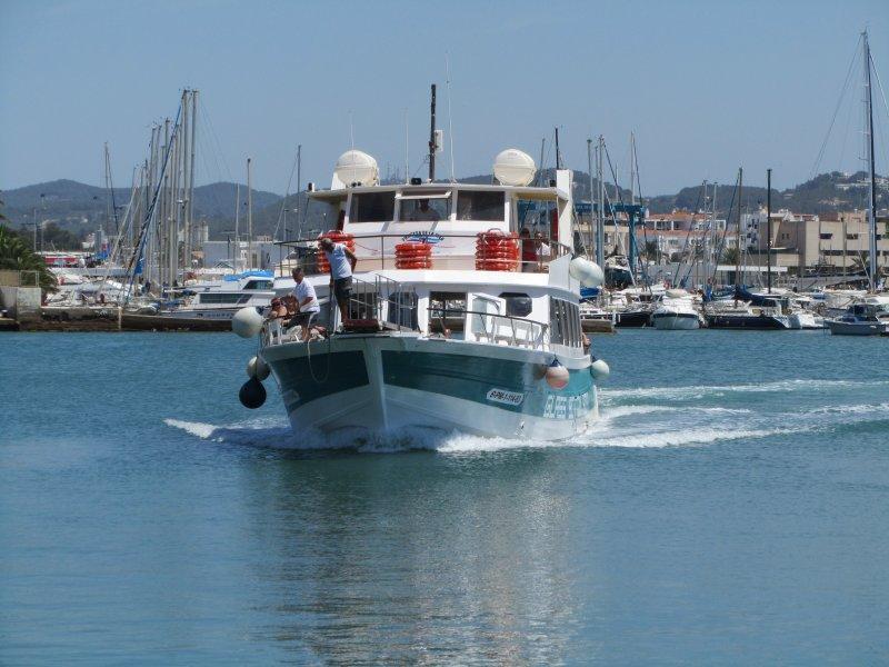 Santa Eulalia Ferry Princesa De La Mar Arriving at Ibiza
