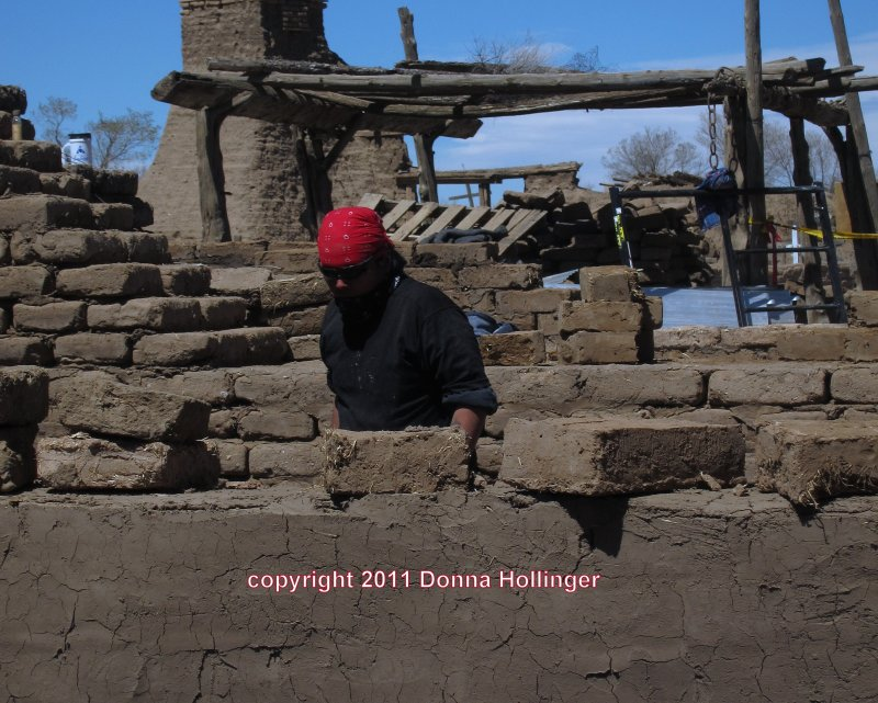 Making Adobe Bricks for Dwelling