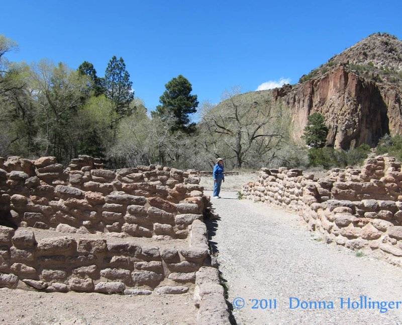 Canyon Floor at Bandelier...Sally giving it some scale