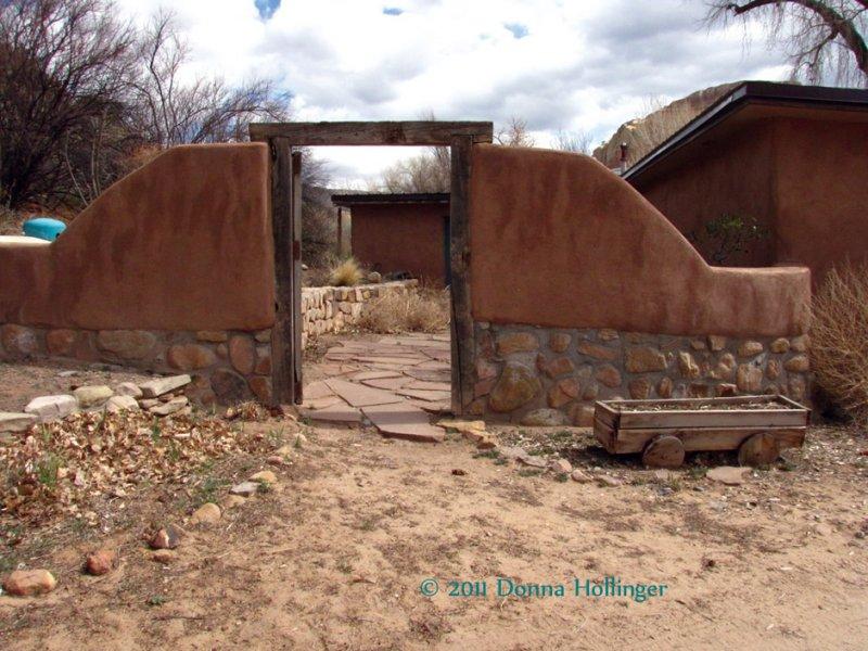 Backyard of Ghost Ranch