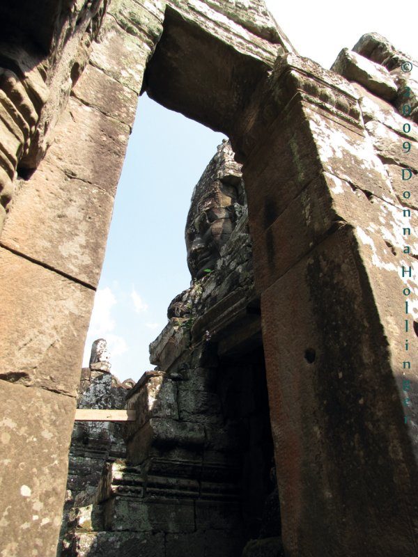 Massive doorway with Avalokitesvara peeking through