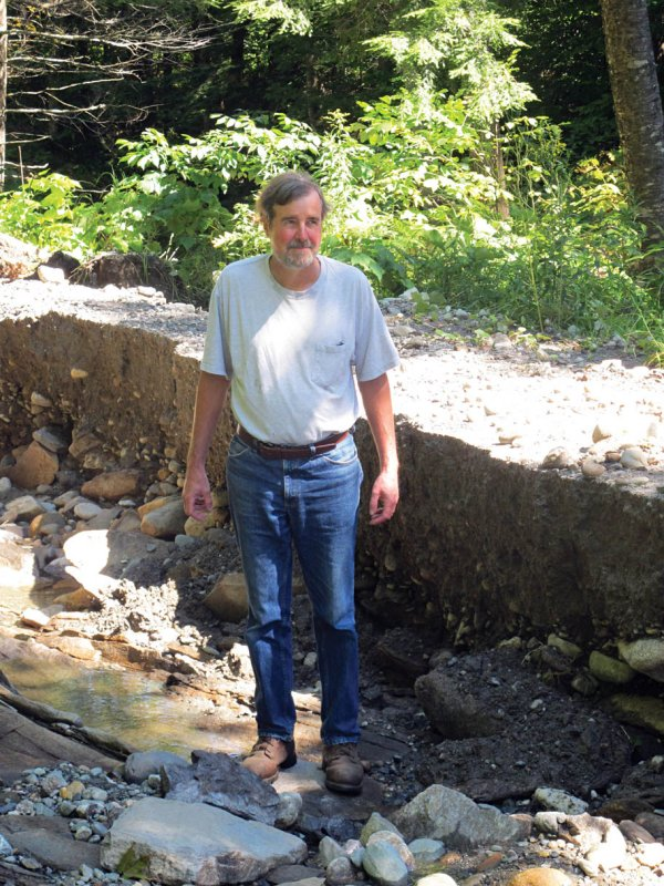 Michael Standing in One of the Deepest Ruts in Turnpike Road