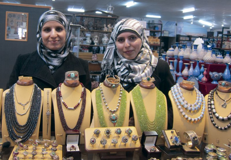 Two Cousins At the Jewelry Counter