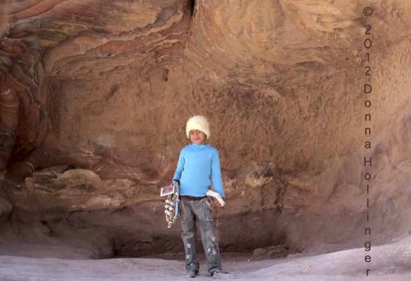 Bedouin Girl in Petra Cave